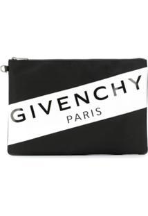 Givenchy Bolsa Carteiro Grande Com Logo - Preto