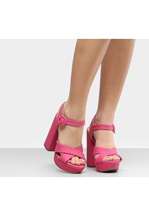 Sandália Via Marte Meia Pata Tira Cruzada Feminina - Feminino-Pink