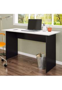 Mesa Para Escritório Retangular Pé Painel 90Cm Gebb Work Preto/Cinza