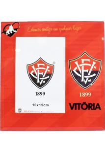 Porta Retrato Minas De Presentes 1 Foto 15X10Cm Vidro - Vitória Vermelho