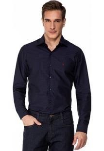 Camisa Baumgarten Maquinetada Azul Marinho - Masculino