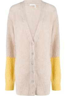 See By Chloé Colour-Block Button Cardigan - Neutro