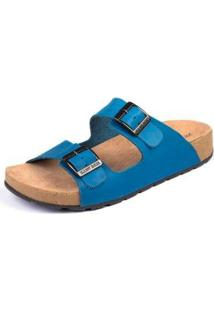 Sandália Sidewalk Anatômica Onda Feminina - Feminino-Azul Royal+Cinza
