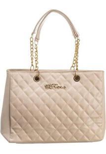 Bolsa Handbag D'Flora Alça Dupla Feminina Dia Dia Elegante - Feminino