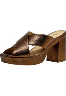 Sandália Veleno Mule Bronze