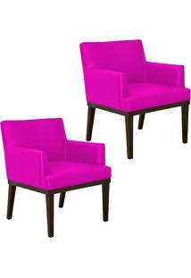 Kit 02 Poltronas Decorativas Lyam Decor Beatriz Corino Pink - Rosa - Dafiti