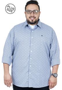 Camisa Plus Size Bigshirts Manga Longa Xadrez Florzin