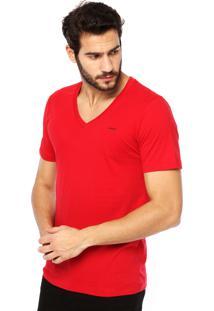 Camiseta Manga Curta Sommer Estampa Vermelha