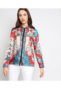 9b73dd427c ... Camisa Arabescos - Bege   Vermelhaversace Collection