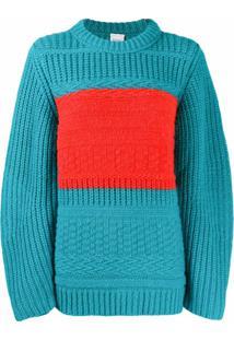 Paul Smith Suéter De Tricô Chunky Com Detalhe De Listra - Azul