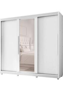 Guarda-Roupa Casal Com Espelho Veneto 3 Pt 5 Gv Branco