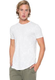 Camiseta Polo Wear Folhagem Off-White
