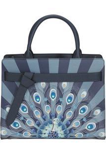 Bolsa My Samsonite- Azul Marinho & Branca- 24,6X30,3Samsonite