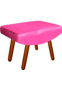 Puff Decorativo Josy Pés Palito Suede Rosa Barbie - D'Rossi