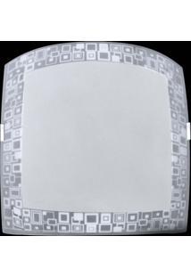 Plafon Sobrepor Quadrado Pequeno Mosaico Branco Attena