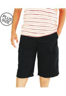 Bermuda Masculina Plus Size Dazz Ling Cós Elástico Preta