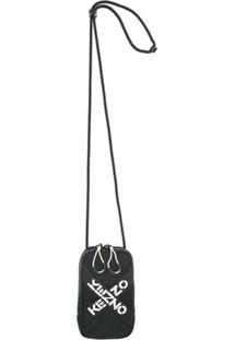 Kenzo Carteira Com Estampa De Logo - Preto