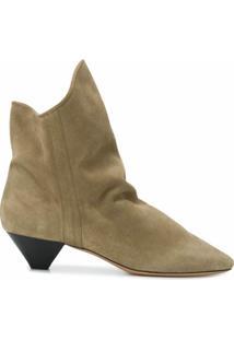 Isabel Marant Ankle Boot De Camurça Doey - Neutro