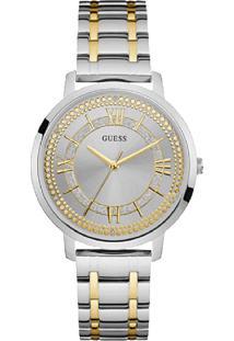 Relógio Guess Feminino Aço Prateado E Dourado - W0933L5