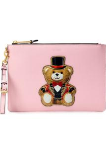 Moschino Toy Bear Clutch - Rosa