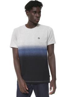 Camiseta Quiksilver Moline Stripes Cinza