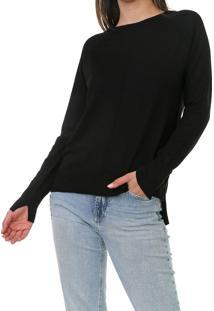 Blusa Calvin Klein Tricot Mullet Preta
