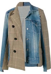 Sacai Patchwork Jacket - Azul