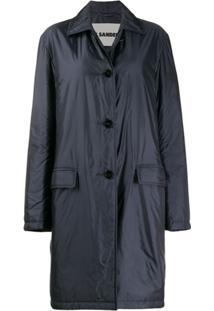 Jil Sander Trench Coat Slim - Azul