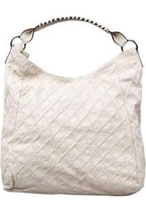 Bolsa Feminina Envelope Bege Branco