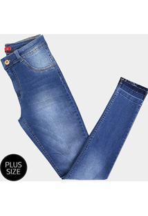e9a340edf6003f Calça Jeans Plus Size Biotipo Skinny Alice Cintura Alta Feminina -  Feminino-Azul