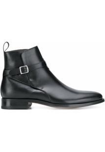 Scarosso Ankle Boot Com Fivela - Preto
