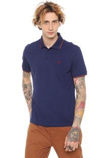Camisa Polo John John Reta Depths Azul-Marinho