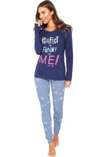 Pijama Any Any Perfect Funny Me Azul