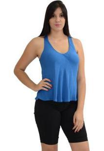 Blusa Moché Dupla Face - Feminino-Azul