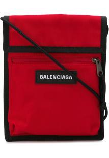 Balenciaga Clutch Bordada 'Explorer' - Vermelho