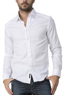 Camisa R.Mendes Maquinetada Branca
