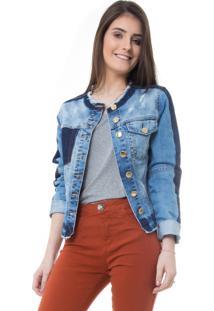Jaqueta Rosa Line Jeans Bohemian Com Reservas