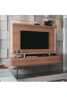 Painel Para Tv Até 55 Polegadas Limit Marrom Nature E Off White