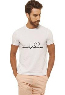 Camiseta Joss - Heart Beat - Masculina - Masculino-Branco