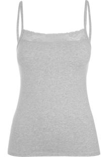 Camisete Sweet Cotton Mescla Cinza