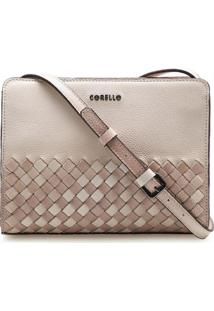 Bolsa Feminina Corello Crossbody Mini Teresa Couro Floater Degradê Corello Cross Bag Nude