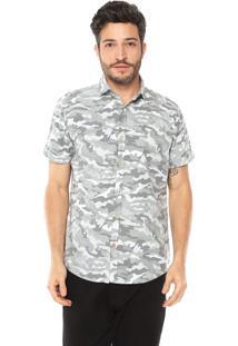 Camisa Malwee Slim Militar Cinza