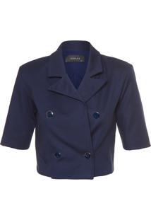 Blazer Feminino Cropped - Azul