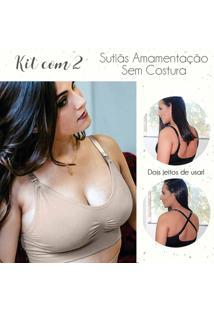 Kit 2 Sutiãs Amamentação Sem Costura - Kit280 Dica De Lingerie