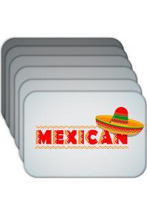 Jogo Americano Love Decor Mexican Kit Com 6 Peças