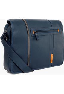 Bolsa Bennemann Carteiro Em Couro Azul