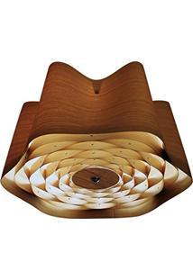 Plafon Wood 60Cm 3E27 Bronzearte