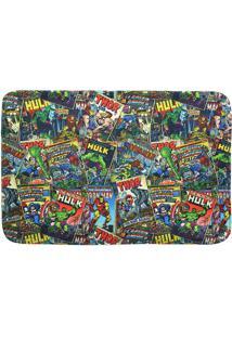 Tapete De Banho Marvel Comicsâ®- Verde & Azul- 59,5X3Mabruk
