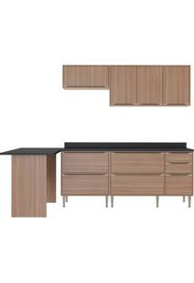 Cozinha Compacta Multimoveis Calabria 5455 Nogueira Se