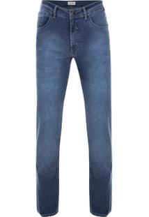 Calça Jeans Pierre Cardin Índigo Light Masculina - Masculino-Azul